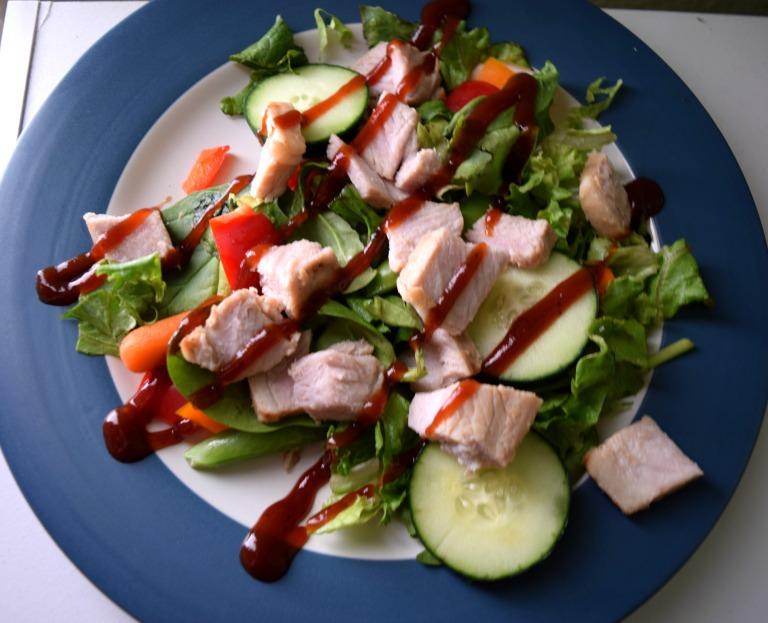 Lefotover Asain Grilled Pork Salad