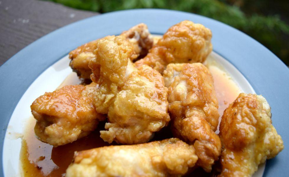 Honey Sriracha Mustard Chicken Wings